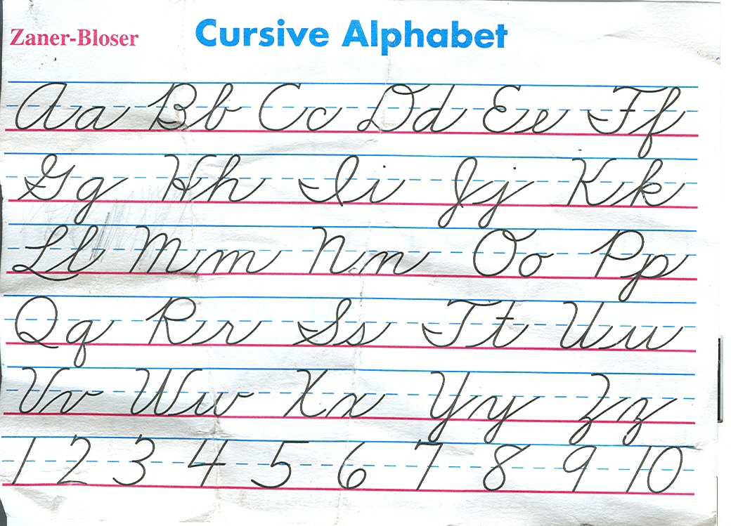 Cursive Alphabet Chart Letters Pictures To Pin On